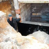 Bild Bau der unterirdischen Wurfscheibenanlage