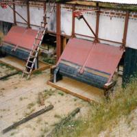 Bild So sieht die Blende mit dem Kugelfang im Sandbett nach Fertigstellung aus.